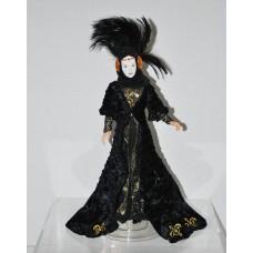 Star Wars 1 - Queen Amidala - Black Travel Gown - Porcelain Face