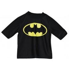 Batman Boys' Rash Guard-UPF 50+  Black - XS