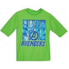 Boys' Marvel Avengers Rash Guards Shirt - Lime L - UPF 50+