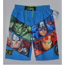 Boys' Marvel Avengers Swim Trunks Blue UPF 50+ - L