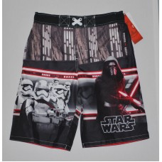 Star Wars Episode 7 Boys' Swim Trunks Red UPF 50+ - L