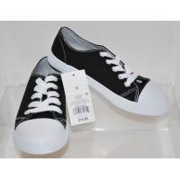Boys Low-Top Canvas Sneakers Cat & Jack  - Black 13