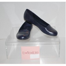 Bandolino Edisson Women's Leather Flat Shoes Navy Memory Foam 6.5M Seconds
