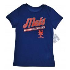 Girls NY Mets  Blue T-Shirt  LG (10/12)