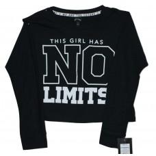 Girls' No Limits Long Sleeve Graphic T-Shirt - art class  Black M