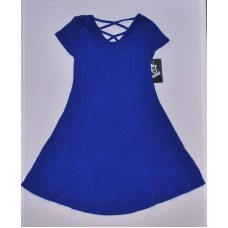 Girls' Strappy Back Knit Dress - Art Class  Blue XS