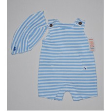 Carters One-Piece Jumper and Cap 3 MO Blue
