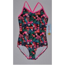 Cat & Jack Girls 1 Piece Swimsuit Black LG