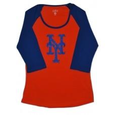 Girls NY Mets T-Shirt Blue LG