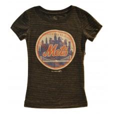 Girls MLB NY Mets Short Sleeve T-Shirt LG Gray