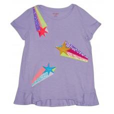 Girls Purple Star T-Shirt- Cat & Jack - XL