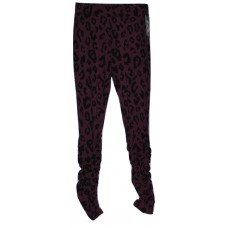 Girls' Ruched Leggings - art class  Autumn Purple Leopard M