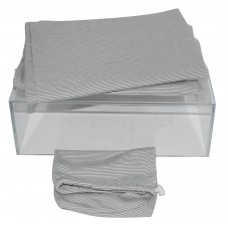 T-Shirt Jersey Fabric Pillow Cases Set Standard Size Gray Pin Stripe
