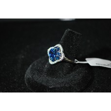 Silver Sapphire Ring Size 7