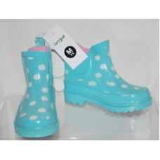 Toddler Girls Polka Dot Rain Boots Cat & Jack  - Mint M (7/8)