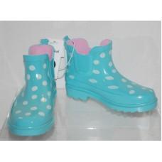 Toddler Girls Polka Dot Rain Boots Cat & Jack  - Mint XL (11/12)