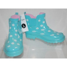 Toddler Girls Polka Dot Rain Boots Cat & Jack  - Mint Blue L (9/10)