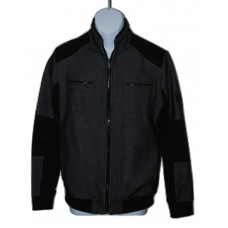 Mens Calvin Klein Black Moto Jacket (2XL)