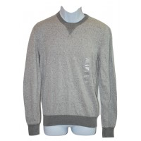 Mens Crew Neck Sweater Pullover Gray Medium American Rag