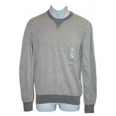 Mens Crew Neck Sweater Pullover Gray Large American Rag