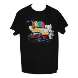 Men's Route 66 Black T-Shirt Crew Neck