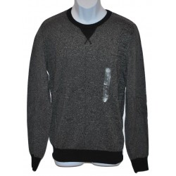 American Rag Men's Crew Neck Sweater 2-Tone Black