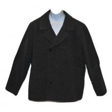 American Rag Men's Double-Breasted Pea Coat Dark Gray Heather 2XL