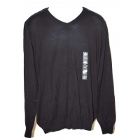 American Rag Mens Solid Black V-Neck Sweater