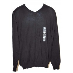 American Rag Mens Solid Black V-Neck Sweater