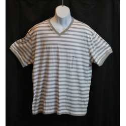 American Rag T-Shirt 2XL Gray Stripe