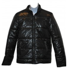 Mens Puffy Jacket Calvin Klein Charcoal Black - LG
