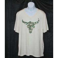 David Bitton Buffalo Slub White V-Neck T-Shirt 2XL