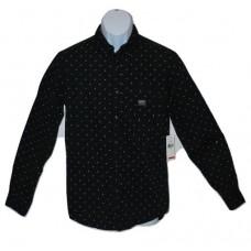 Denim Supply Ralph Lauren Black Button Down Shirt Dot Print SM