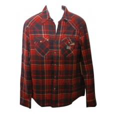 Denim Supply Ralph Lauren Red Plaid Western Shirt