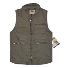 Campco Men's Humvee Ranger Vest w/ Hideaway Hood - Olive Drab - Small