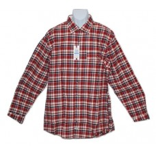 IZOD Big & Tall Red Plaid Long Sleeve Shirt XLT