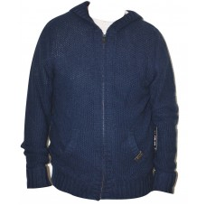 Men's Knit Hoodie Sweater - Full Zip - Rocawear - Navy