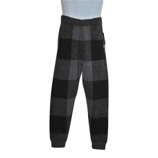 Rocawear Black & Gray Cotton Knit Lumberjack Pants