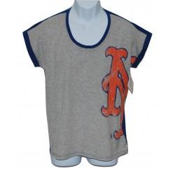 NY Mets Unisex Sleeveless T-Shirt Gray-2XL