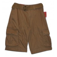 "Mens Belted Cargo Shorts - Brown - 28"" Waist Mossimo"
