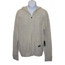 Wool Blend Hoodie Sweater - Oatmeal Color - Medium