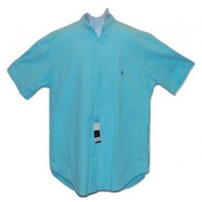 Polo Ralph Lauren Big & Tall Casual Blue Button Front Shirt