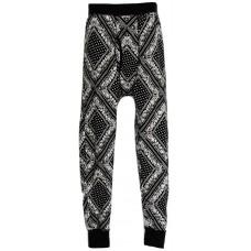 Rocawear Blak Men's Thermal Bottom Black Paisley 2XL