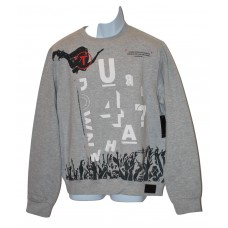 Rocawear Men's Fleece Pullover Crew Neck Sweatshirt Grey