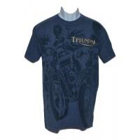 Men's Triumph Thunderbird T-Shirt - Blue