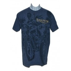 Men's Triumph Thunderbird T-Shirt - Blue