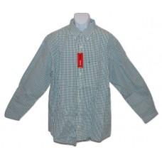 IZOD Van Heusen Button Front Shirt Green B&T XLT