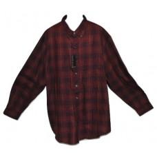 Van Heusen Big & Tall Red Plaid Button Front Shirt 3XLT