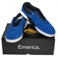 Emerica Blue Suede Skate Shoes Heritic NIB Size 11