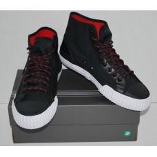 PF Flyers | Men's Center Hi Ripstop Sneakers | Black & Red | NIB |Size 5.0